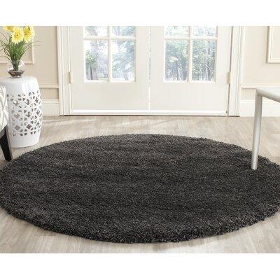 Boice Dark/Gray Rug Rug Size: Round 5'1