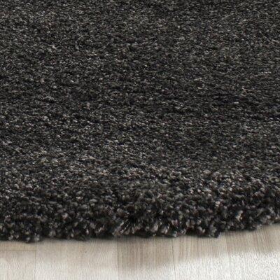 Boice Dark/Gray Rug Rug Size: Round 7'