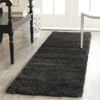 Boice Dark/Gray Rug Rug Size: Runner 2' x 8'