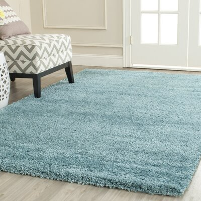 Holliday Aqua Blue Area Rug Rug Size: 3 X 3 Round