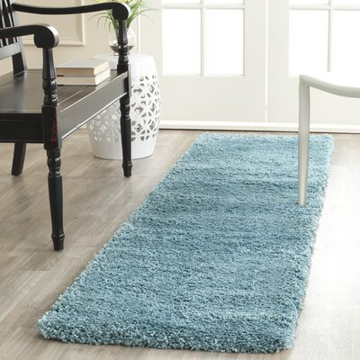 Holliday Aqua Blue Area Rug Rug Size: Runner 2 x 8