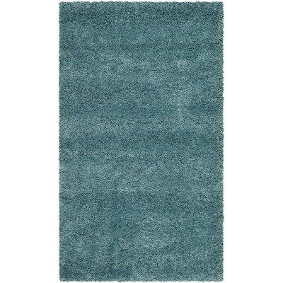 Holliday Aqua Blue Area Rug Rug Size: 4 x 6