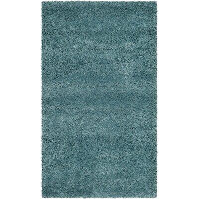Holliday Aqua Blue Area Rug Rug Size: 3 x 5