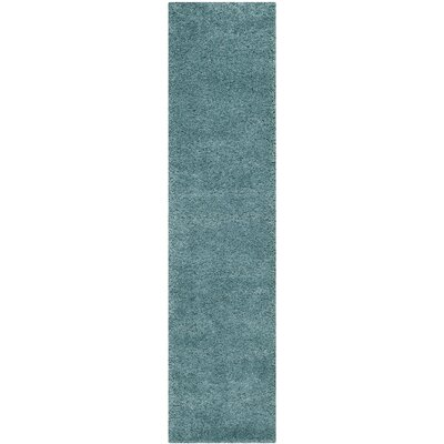 Holliday Aqua Blue Area Rug Rug Size: Runner 2 x 6