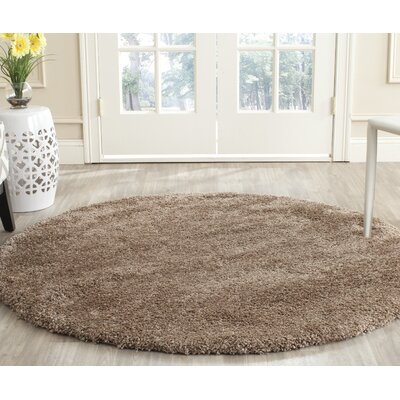Holliday Brown Area Rug Rug Size: 10 X 10 Round