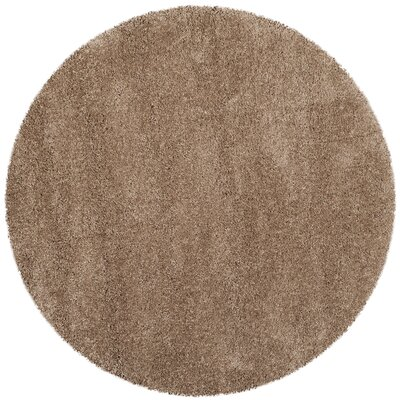 Holliday Brown Area Rug Rug Size: Round 7