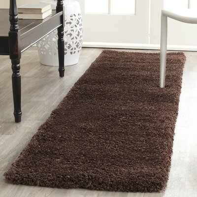 Holliday Brown Rug Rug Size: Runner 2 x 8