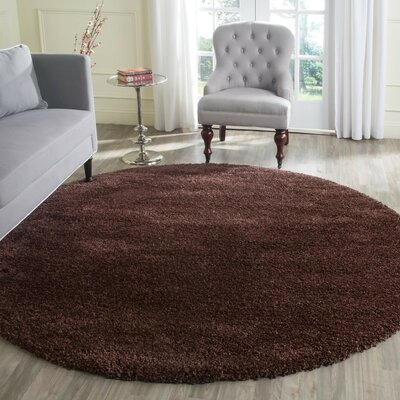 Starr Hill Brown Rug Rug Size: Round 7