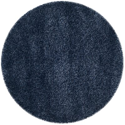 Starr Hill Navy Area Rug Rug Size: Round 67