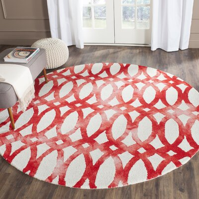 Edie Ivory/Red Area Rug Rug Size: Rectangle 4 x 6