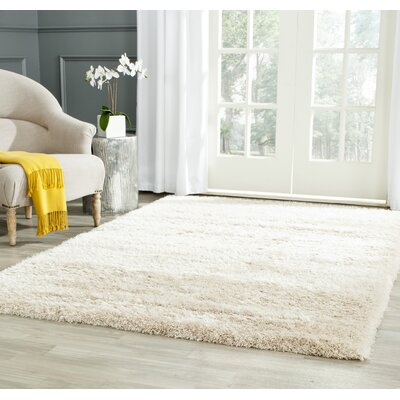 Holliday Rectangle Ivory Area Rug Rug Size: 3 X 5