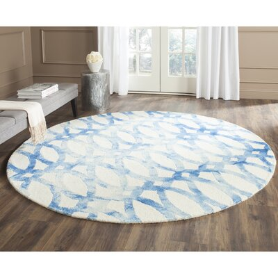 Edie Ivory/Blue Area Rug Rug Size: Rectangle 6 x 9