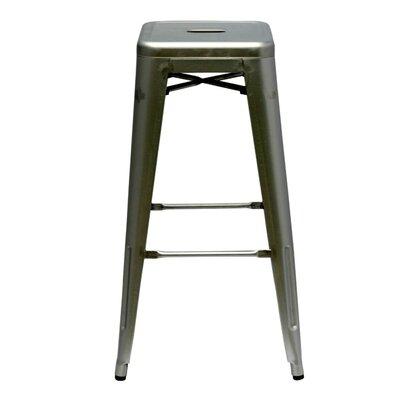 Clever 30 Bar Stool Upholstery: Gunmetal
