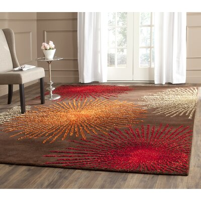 Dash Brown Area Rug Rug Size: Round 6