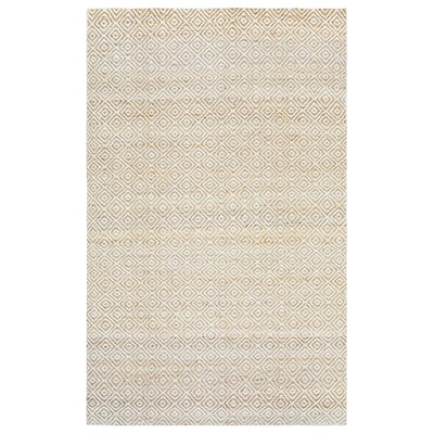 Allegan Hand-Loomed Natural Area Rug Rug Size: Rectangle 5 x 8