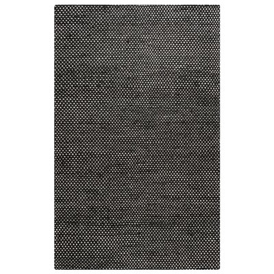 Allegan Hand-Loomed Black Area Rug Rug Size: 8 x 10