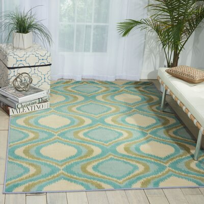 Doyers Blue Area Rug Rug Size: Rectangle 5 x 7