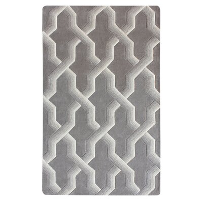 Bollman Wool Hand-Tufted Gray/Ivory Area Rug Rug Size: Rectangle 9 x 12