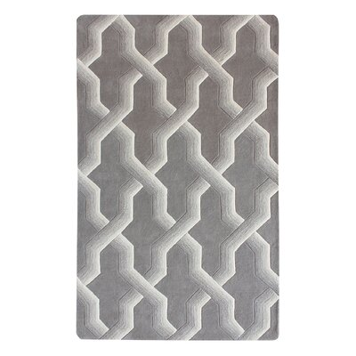 Bollman Wool Hand-Tufted Gray/Ivory Area Rug Rug Size: Rectangle 3 x 5