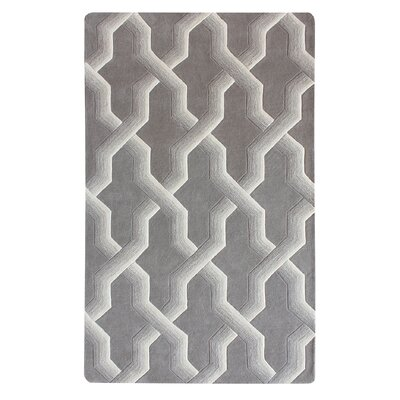 Bollman Wool Hand-Tufted Gray/Ivory Area Rug Rug Size: Rectangle 8 x 10