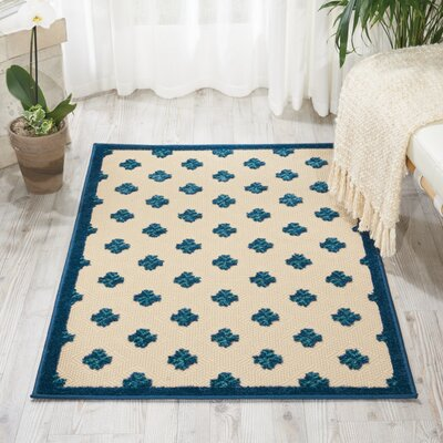 Gatti Blue Indoor/Outdoor Area Rug Rug Size: 3'6