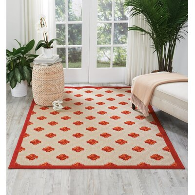 Gatti Red Indoor/Outdoor Area Rug Rug Size: 96 x 13