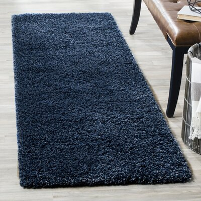 Boice Navy Blue Solid Rug Rug Size: Runner 23 x 7