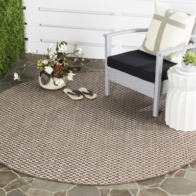 Jefferson Place Light Brown/Light Gray Outdoor Area Rug Rug Size: Rectangle 27 x 5