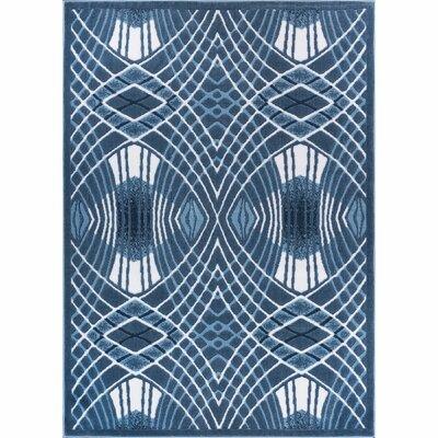 Ruark Blue Area Rug Rug Size: 27 x 311