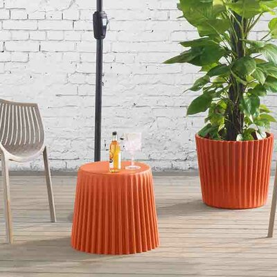 Bonanno Garden Stool Finish: Orange