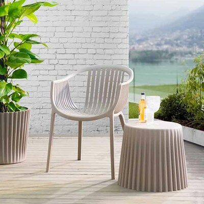 Bonanno Garden Stool Finish: Taupe