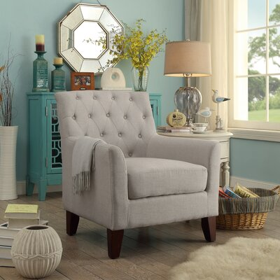 Kilmersdon Tufted Arm chair Upholstery: Beige