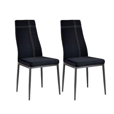 Calanthe Side Chair Upholstery: Fabric - Black