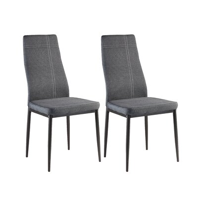 Cerise Upholstered Dining Chair Color: Gray