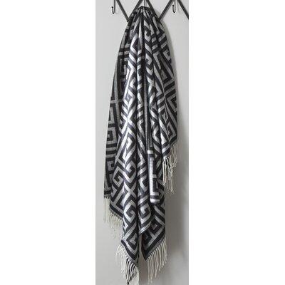 Calder Throw Color: Black/Gray