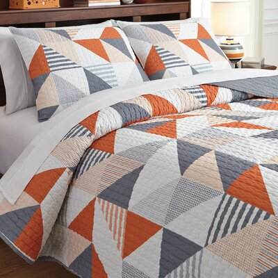 Cearbhall 3 Piece Reversible Coverlet Set Size: Twin
