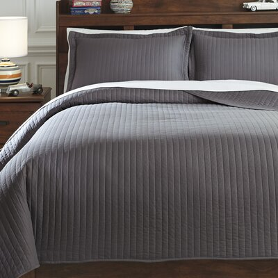 Calderone 3 Piece Coverlet Set Size: Twin, Color: Gray