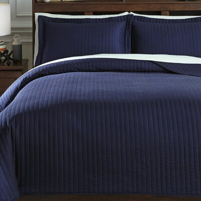Calderone 3 Piece Coverlet Set Size: Full, Color: Navy