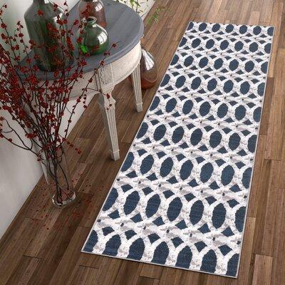 Ruark Blue Area Rug Rug Size: Runner 2' x 7'3