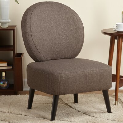 Cales Slipper Chair Upholstery: Brown