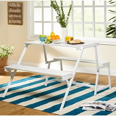Chappel Folding Metal Dining Table