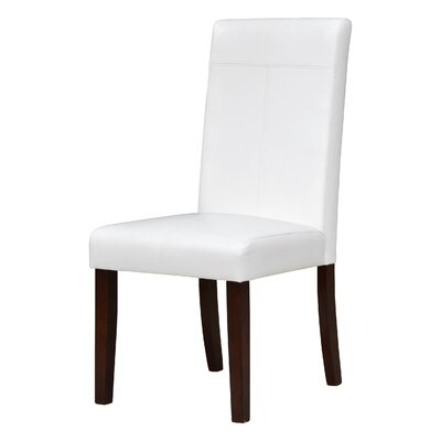 Calhoon Parsons Chair Upholstery: White