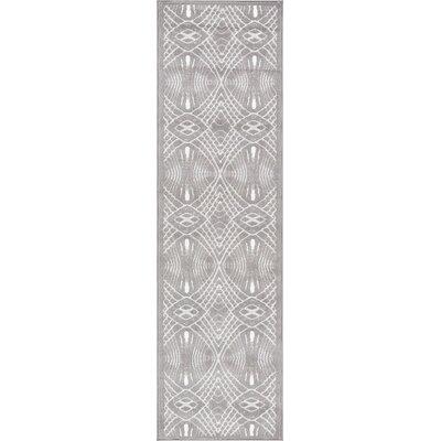 Ruark Gray Area Rug Rug Size: 93 x 126