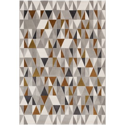 Callaham Brown/Gray Area Rug Rug Size: Rectangle 8 x 10
