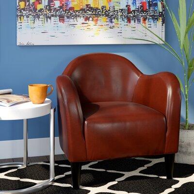 Potts Barrel Chair Color: Chili