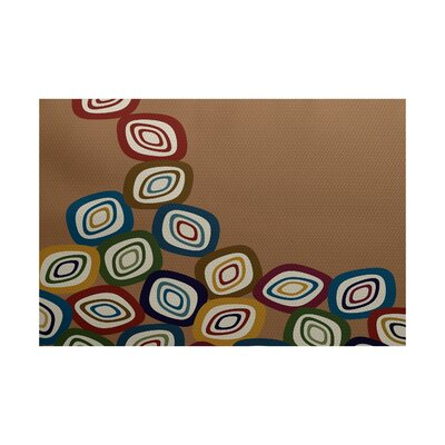 Cotner Falling Leaves Geometric Print Brown Indoor/Outdoor Area Rug Rug Size: 2 x 3