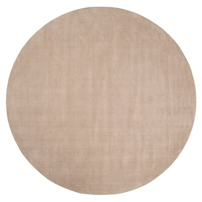Villegas Hand Woven Wool Doe Skin Area Rug Rug Size: Round 6