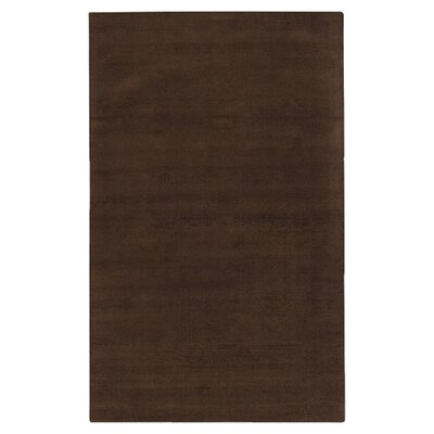 Villegas Dark Brown Area Rug Rug Size: 76 x 96