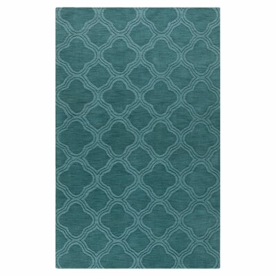 Villegas Teal Green Area Rug Rug Size: Rectangle 33 x 53