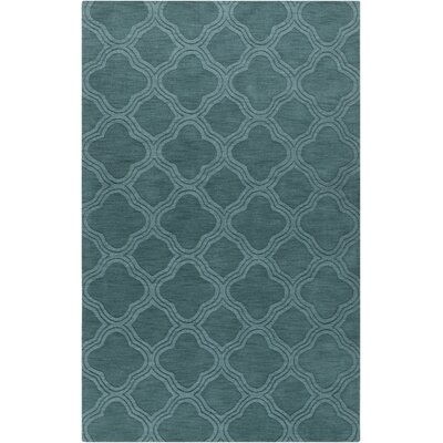 Villegas Teal Green Area Rug Rug Size: Rectangle 5 x 8